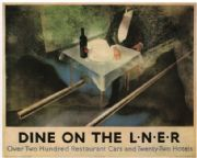 Vintage English poster - Dine on the L.N.E.R